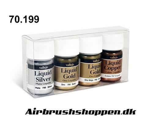 70.199 Liquid Metallic set 4 x 35ml