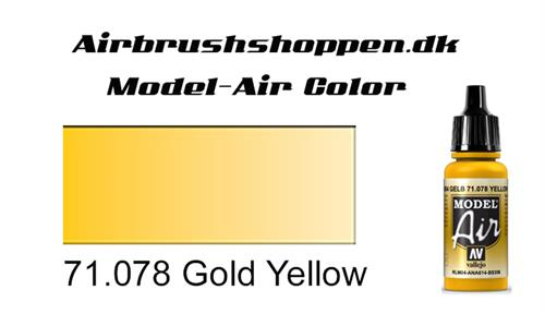 71.078 Gold Yellow RAL1004-FS33655