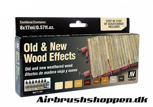 71.187 Old and new wood effects 8x17ml Vallejo
