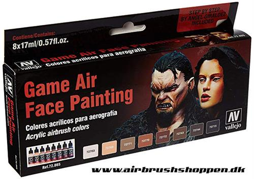 72.865 GAME AIR FACE PAINTING set  8x17ml