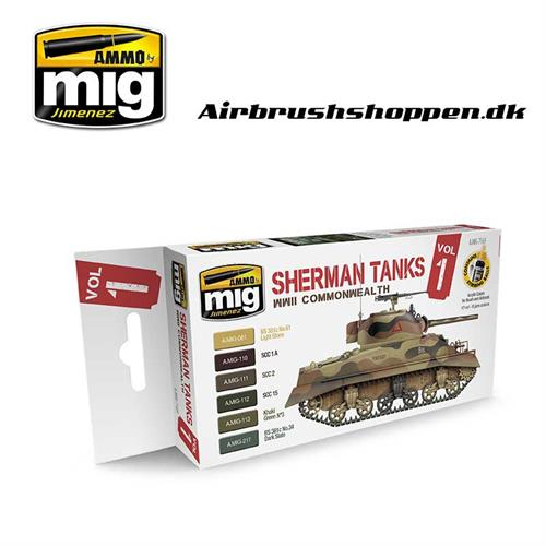 A.MIG 7169 Set Sherman Tanks Vol. 1 (WWII Commonwealth)
