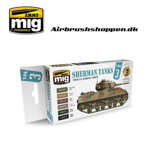 A.MIG 7171 Set Sherman Tanks Vol. 3 (WWII US Marine Corps)