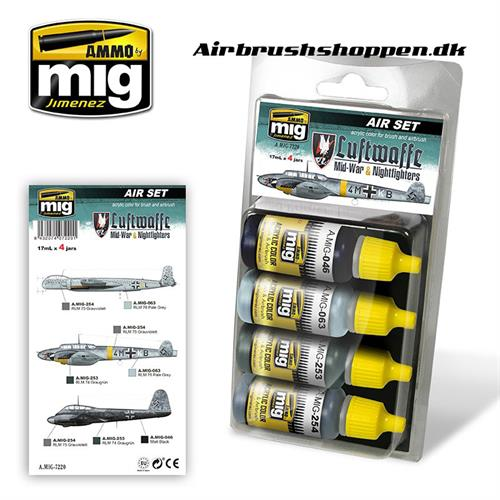 A.MIG 7220 LUFTWAFFE MID WAR SET 4x17 ml