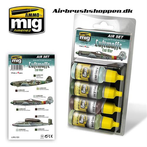 A.MIG 7221 LUFTWAFFE END WAR SET 4x17 ml