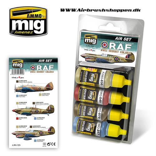 A.MIG 7225 RAF WWII DESERT COLORS 4 x 17 ml