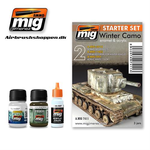 A.MIG 7411 Weathering set Winter Camo Start