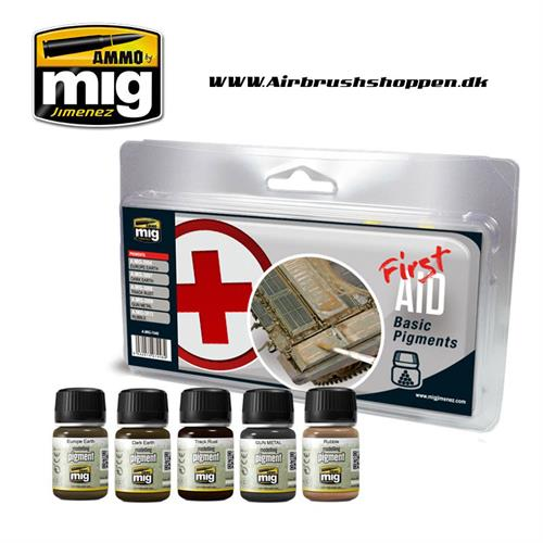 A.MIG 7448 FIRST AID BASIC PIGMENTS 5 x 30 ml