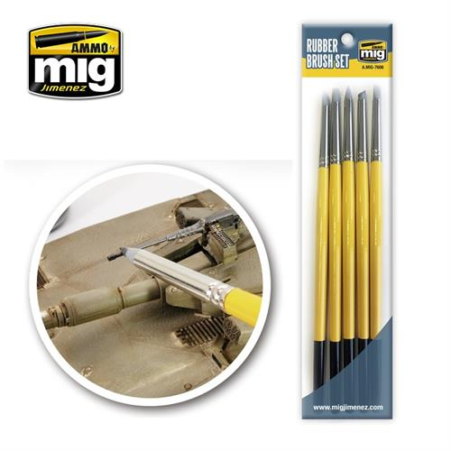 A.MIG 7606 rubber brush set