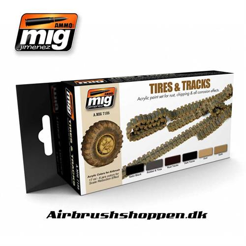 A.MIG 7105 Tires and Tracks Set 6x17 ml