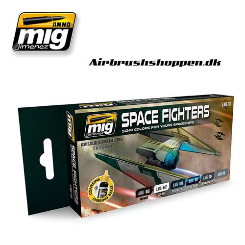 A.MIG-7131 SPACE FIGHTERS SCI-FI COLORS 6x17 ml