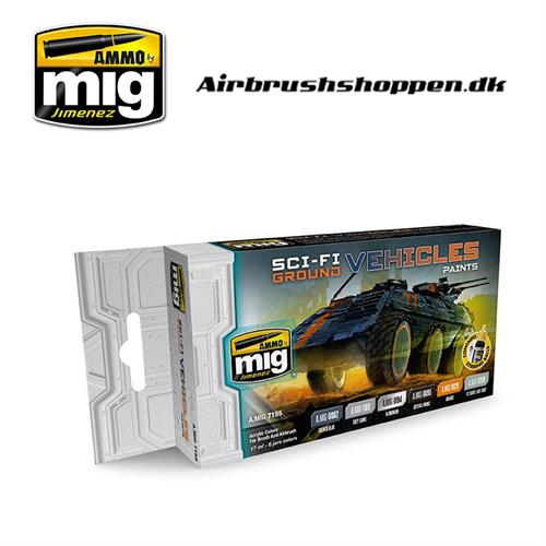 A.MIG 7155 SCI-FI GROUND VEHICLES COLOR  6x17ml