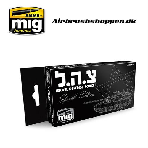 A.MIG 7163 ISRAEL DEFENSE FORCES SPECIAL EDITION SET 6x17ml