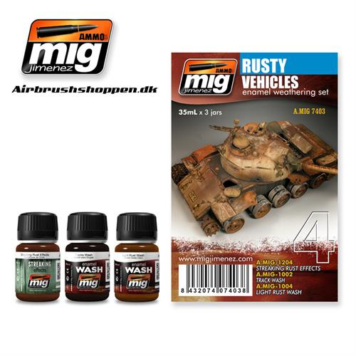 A.MIG 7403 Weathering set Rusty Vehicles
