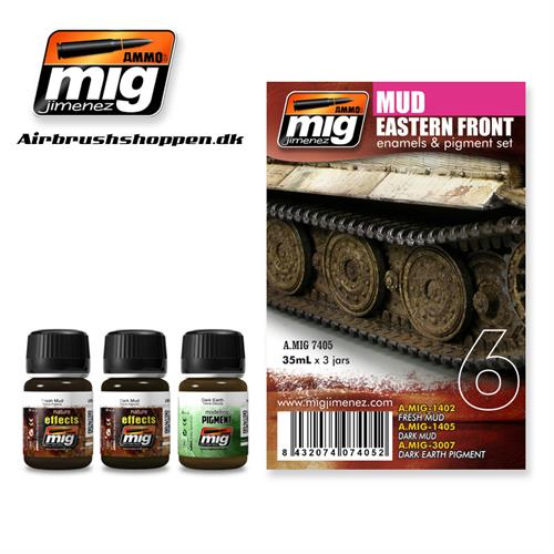 A.MIG 7405 Weathering set Easter Front Mud