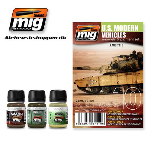 A.MIG 7410 Weathering set US Modern Vehicles