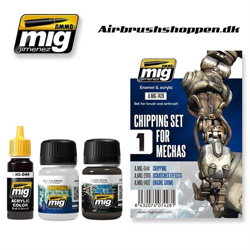 A.MIG 7428 Weathering set Chipping for Mechas