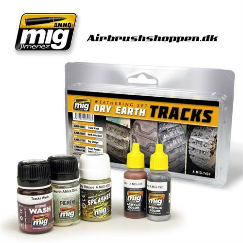 A.MIG 7437 DRY EARTH TRACKS weathering paint set