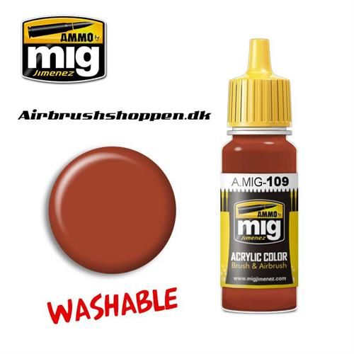 A.MIG 109 WASHABLE RUST