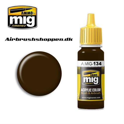AMIG 134 BURNT BROWN RED