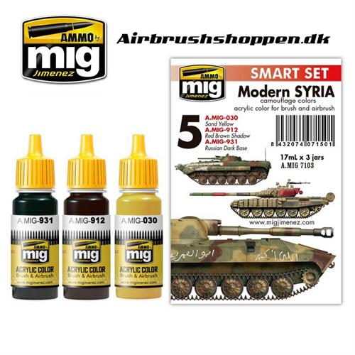 A.MIG 7103 MODERN SYRIAN CAMOUFLAGE COLORS 3 x 17 ml