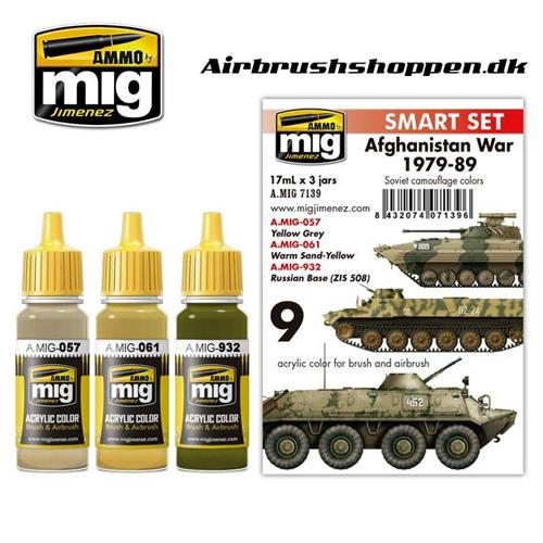 A.MIG 7139 AFGHANISTAN WAR (1979-1989)  COLORS 3x 17 ml