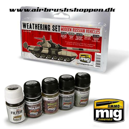 A.MIG 7147 Modern Russian Vehicles Weathering Set
