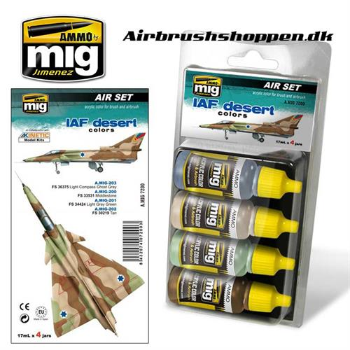 A.MIG 7200 IAF DESERT Aircraft colors 4x17 ml