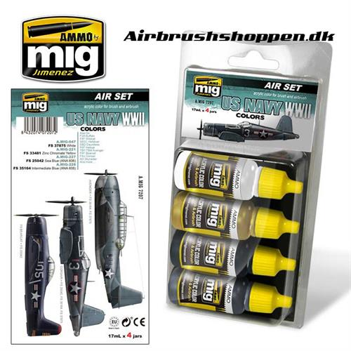 A.MIG 7207 US NAVY WWII Aircraft colors 4x17 ml