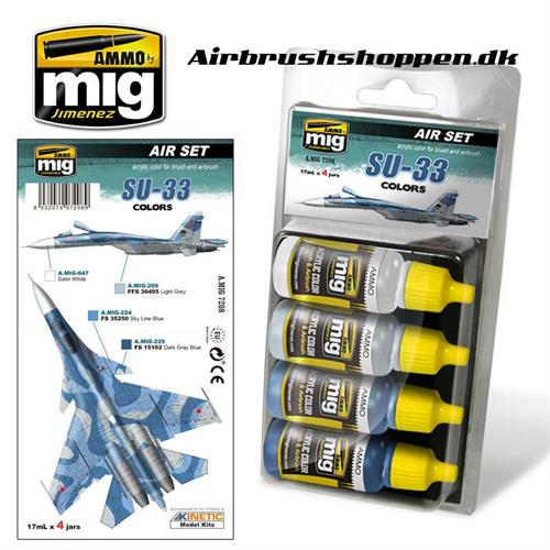 A.MIG 7208 SU-33 COLORS Aircraft colors 4x17 ml