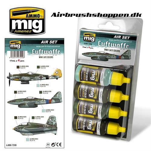 A.MIG 7209 LUFTWAFFE WWII LATE Aircraft colors 4x17 ml