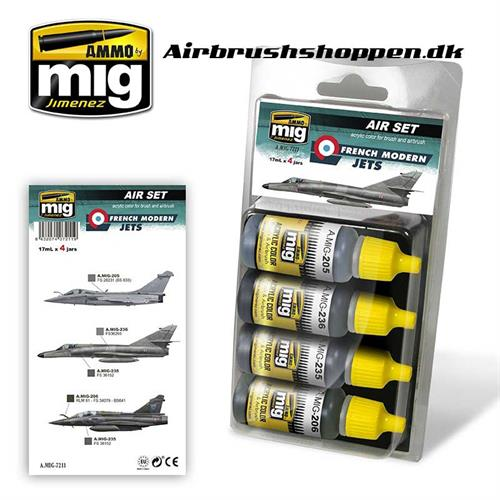 A.MIG 7211 RENCH MODERN JETS Aircraft colors 4x17 ml