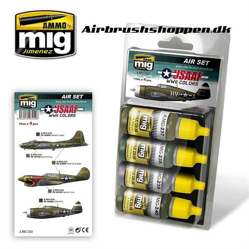 A.MIG 7212 USAAF WWII Aircraft colors 4x17 ml