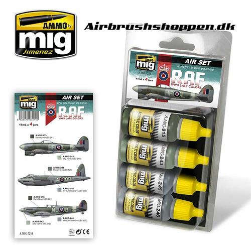 A.MIG 7214 Late WWII RAF Aircraft colors 4x17 ml