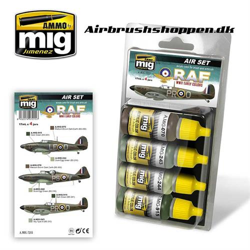 A.MIG 7215 RAF WWII EARLY Aircraft colors 4x17 ml