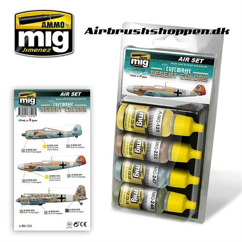 A.MIG 7218 LUFTWAFFE DESERT Aircraft colors 4x17 ml