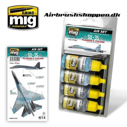 A.MIG 7219 SU-35 FLANKER-E Aircraft colors 4x17 ml