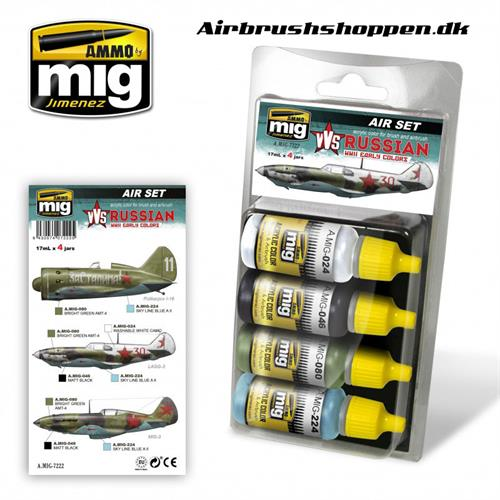 A.MIG 7222 VVS WWII RUSSIAN EARLY AIRCRAFT SET 4x17 ml