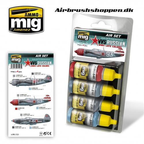 A.MIG 7223 VVS WWII RUSSIAN LATE AIRCRAFT SET 4x17 ml