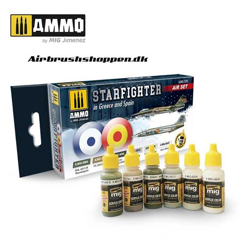 AMIG 7232 SET F-104G STARFIGHTER (GREECE & SPAIN) 6 x 17 ml
