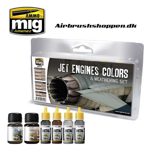 A.MIG 7445 JET ENGINES COLORS AND WEATHERING SET