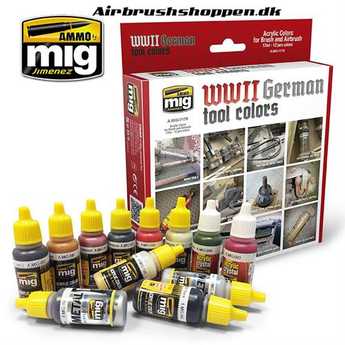 A.MIG 7179 WWII GERMAN TOOL COLORS 12x17ml