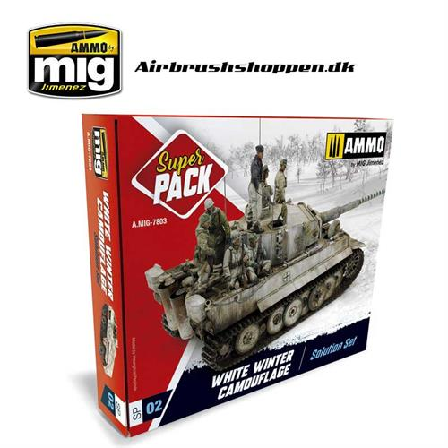 AMIG 7803 SUPER PACK WHITE WINTER CAMOUFLAGE