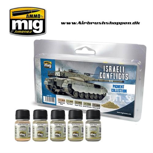 A.MIG7454 ISRAELI CONFLICTS PIGMENT COLLECTION WEATHERING SET