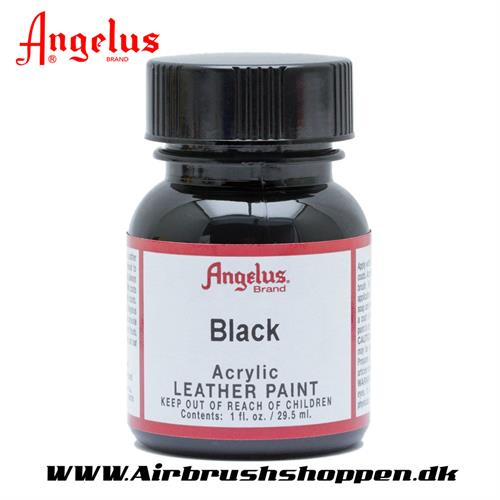 Black - Sort  ANGELUS LEATHER PAINT 29,5 ML, 001