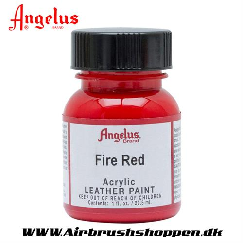 Fire red - Rød ANGELUS LEATHER PAINT 29,5 ML   185