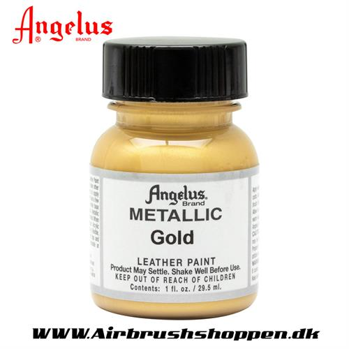 Gold - Guld Metallic ANGELUS LEATHER PAINT 29,5 ML   072