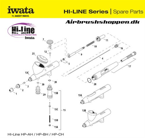 9. Needle Chucking Guide W/ Auxiliary lever  HP-AH/BH,  I 115 7