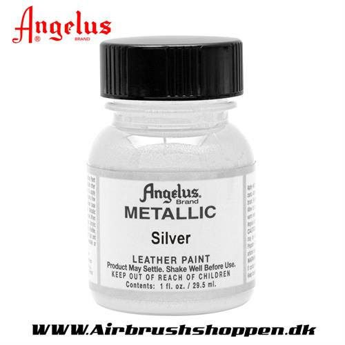 Silver - Sølv Metallic ANGELUS LEATHER PAINT 29,5 ML  150