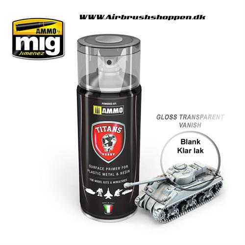 TTH 114 TITANS HOBBY: GLOSS TRANSPARENT VARNISH KLAR LAK BLANK