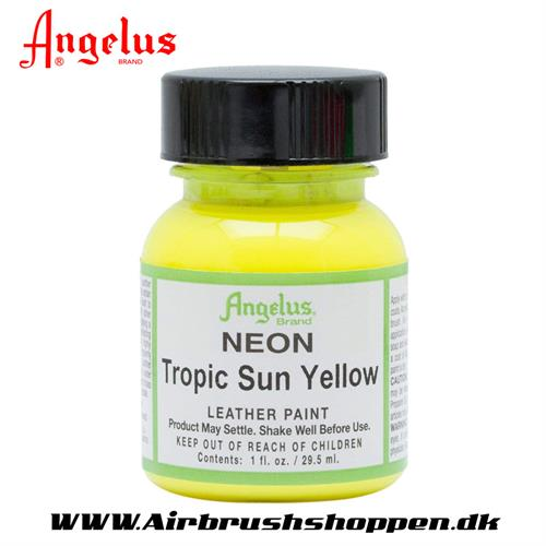 Tropic sun - Neon Gul ANGELUS LEATHER PAINT 29,5 ML   127